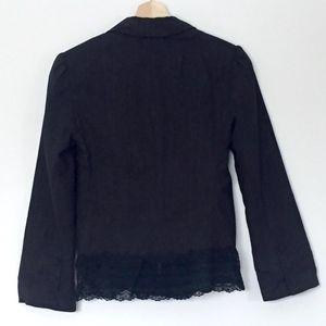 Rampage Jackets & Coats - EUC (Heart Moon Star) Pinstripe Blazer w Lace Hem
